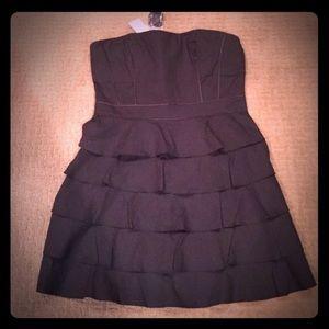NWT 2B Bebe Corset Tier Black Dress